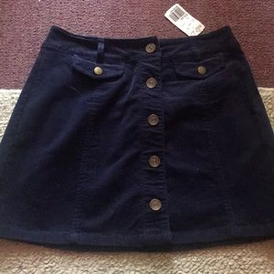 A Forever 21 navy blue suede skirt